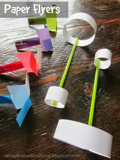 Relentlessly Fun, Deceptively Educational: 2 Paper Flyers (Whirligig and Straw Plane)