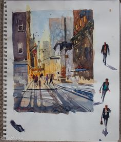 Sketch Book Ron Stocke More - Travel Sketchbook, Arte Sketchbook, Watercolor Sketchbook, Watercolor Art, Sunset Watercolour, Art Sketches, Art Drawings, Pretty Drawings, Sketchbook Inspiration