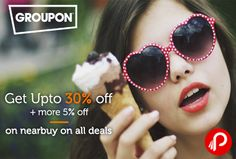 Groupon offers Upto 30% off + more 5% off on nearbuy on all deals. Valid Till 15th November. Max. Discount Rs.150. Promo Code – INDULGE  http://www.paisebachaoindia.com/get-upto-30-off-more-5-off-on-nearbuy-on-all-deals-groupon/