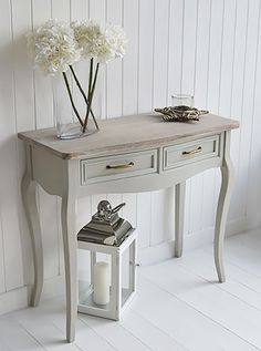 Bridgeport grey console sofa table for living room. Grey living room and hall furniture
