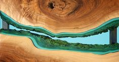 River Entry Table by Greg Klassen Studio Furniture Maker