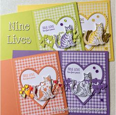 True love has four paws! This darling stamp set - Nine Lives, coordinates with a cat Punch for hours of crafting fun. Dog Cards, Kids Cards, Card Making Inspiration, Making Ideas, Make Your Own Card, Mini Albums, Hand Made Greeting Cards, Stamping Up Cards, Animal Cards