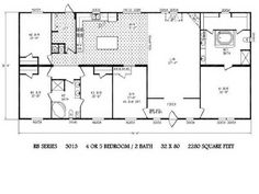 Sandalwood xl 32563x fleetwood homes modular homes for 1994 fleetwood mobile home floor plans