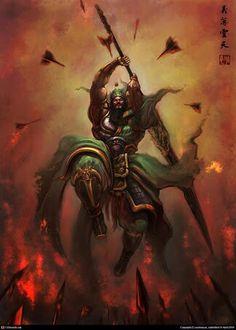 Guan Yu Fantasy Warrior, Fantasy Rpg, Dark Fantasy, Fantasy Story, Fantasy Series, Guan Yu, The Black Cauldron, Dynasty Warriors, Hobgoblin