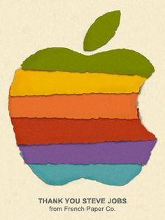 Thank You Steve Jobs by French Paper Co.
