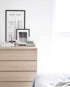 Ikea 'Malm' dresser is perfect for minimal bedrooms @julia.linnea