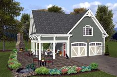 Elevation of Garage Plan 74800 Garage Design, February, Home Improvement, Cabin, House Styles, Home Decor, Homemade Home Decor, Cubicle, Cottage