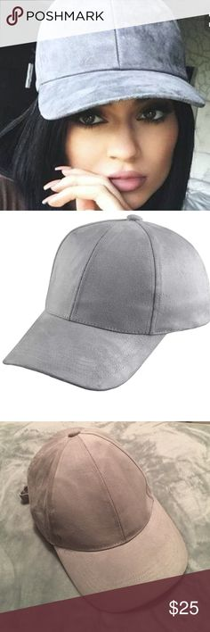 ✨Faux Suede Grey Baseball Cap Classic baseball cap with a soft faux suede texture. Adjustable buckle in back. One size fits all. Available in light grey. Brand listed for exposure.  35% Cotton 65% Acrylic Zara Accessories Hats