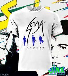 $179.00 Playera o Camiseta Soda Stereo - Comprar en Jinx