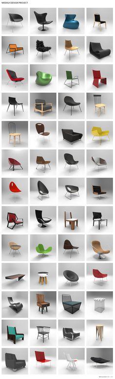 Weekly Design Project by Métricastudio #chairs, #sillas, #design, #interiordesign
