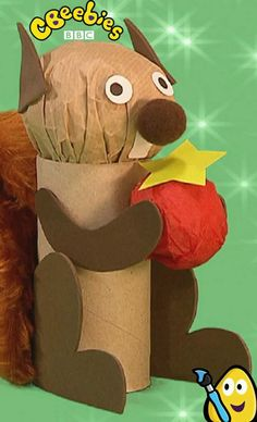 Mister Maker is full of craft ideas for kids. Here he shows us how to make a really cute squirrel! Fall Projects, Craft Projects, Projects For Kids, Craft Ideas, Halloween Arts And Crafts, Halloween Kids, Classroom Crafts, Preschool Crafts, Mister Maker Crafts