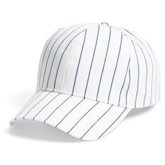0455610ffa5 Women s Bp. Stripe Baseball Cap ( 15) ❤ liked on Polyvore featuring  accessories