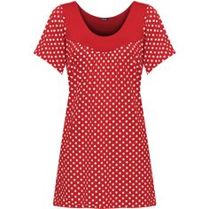 Audrina Floral Short Sleeve Top ($17) ❤ liked on Polyvore featuring plus size women's fashion, plus size clothing, plus size tops, polka dot, special occasion tops, red short sleeve top, short sleeve summer tops, dot top and evening tops