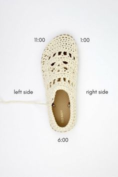 "How to crochet on flip flop soles. Free crochet boot pattern for adults using Lion Brand 24/7 Cotton in ""Ecru."""