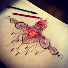 Image result for sternum lace tattoo
