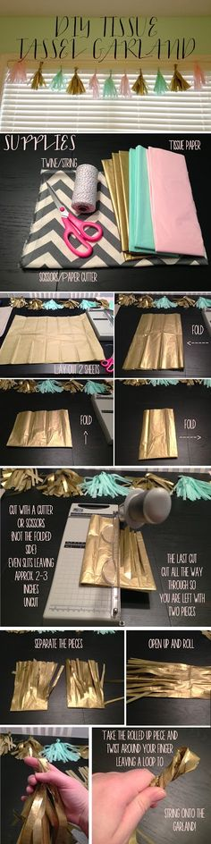 designs by nicolina: DIY TISSUE TASSEL GARLAND