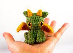 Super cute baby dragon amigurumi
