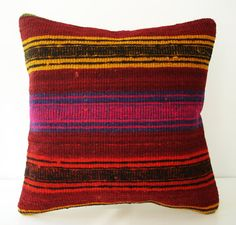 Hand Woven  Turkish Kilim Pillow Cover by sukan, $69.95