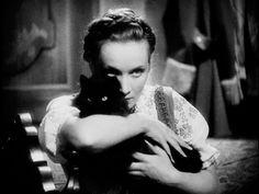 """lenoirmevasibien: """" """" Je suis le chat qui se prélasse A l'instant où le soleil passe, Dans vos jardins et dans vos cours Sans avoir patte de velours…."""" Extrait de les chansons du chat noir de Henri Monnier """""""