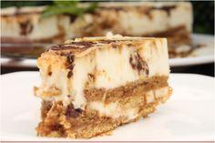 Tarta fria de chocolate blanco y galletas; tan rica y suave que se deshace en tu boca!