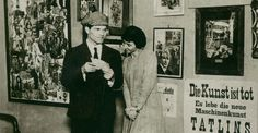 """Two of Dada's best - the King and Queen of Collage - Raoul Hausmann and Hannah Höch at the First International Dada Fair"""", Berlin 1920."""