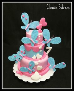 butterfly cake jasmin - claudia behrens | Flickr - Photo Sharing!! Love, love, love this cake!