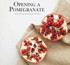 When I was younger I had one job at my Grandmother's thanksgiving: carry the pomegranate to the table. But one year my one job exploded all over the white tablecloth and my white dress. I never went...