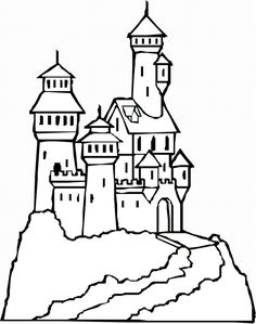 find this pin and more on coloring pages castles