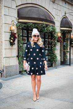 blush pink & polka dots bows & sequins waysify