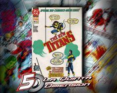NEW TITANS # 89 DE 1992, NUEVA ALINEACIÓN. DIBUJO DE TOM  GRUMMETT. $ 50.00 Para más información, contáctanos en http://www.facebook.com/la5aDimension