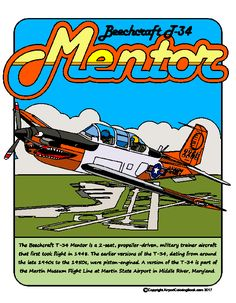 T-34 Mentor Airport Coloring Book