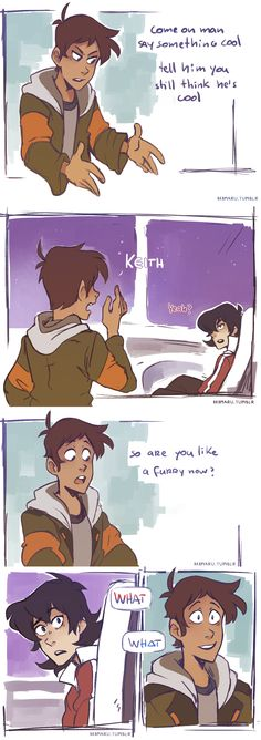 I wanted to draw Lance reacting to galra Keith but then I just