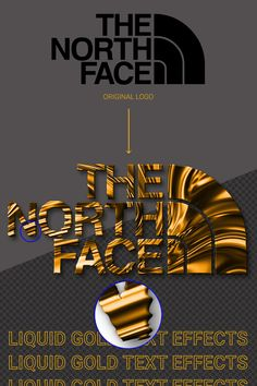 I HAVE CHANGE THIS NORTH FACE LOGO IN FEW SECONG WITH LIQUID GOLD TEXT EFFECT.  #THENORTHFACE #MAXIMEARCHAMBAULT #MAXTOOLBOX #PSD #PHOTSHOP #artwork #vector #graphics #quality #design #drawing
