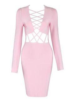 Beccy Pink Bandage Dress