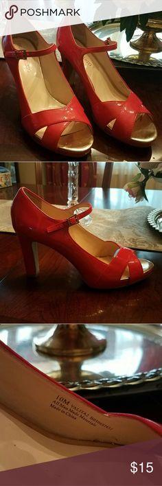 Coral open toe Mary Jane style heels Open toe, Mary Jane heals , 4inch heels Franco Sarto Shoes Heels