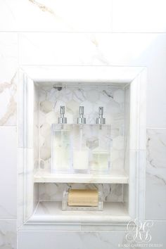 Glam Transitional Guest Bathroom Reveal - with Marble Silver and Brass