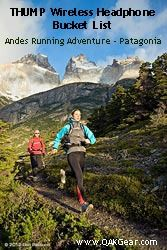 Patagonia Running Adventure CHILE – ARGENTINA   17 Day Running Adventure (No camping) Running in three National Parks in Patagonia: Torres del Paine, Parque Los Glaciares and Tierra del Fuego.   What's on your bucket list?  www.QAKGear.com