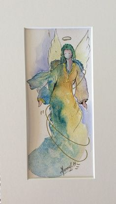 Hanna L. Jakobsen. Norway. Watercolor angels.