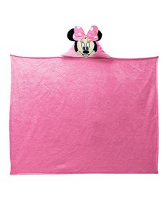 Look at this #zulilyfind! Minnie Mouse Hooded Throw Blanket by Minnie Mouse #zulilyfinds