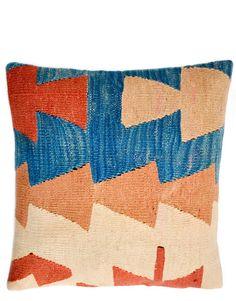 """16"""" Kilim Pillow, Tribal Totem"""