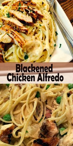 This Blackened Chicken Alfredo is the NUMBER 1 pasta recipe on my entire website! Just the best EVER! It is so creamy, flavorful and decadent. Blackened Chicken Alfredo, Chicken Alfredo Pizza, Chicken Fettuccine, Fettuccine Alfredo, Clean Recipes, Ww Recipes, Pasta Recipes, Dinner Recipes, Best Chicken Recipes
