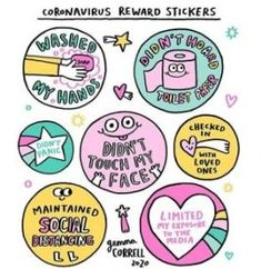 3 sheets of fun stickers as a reward! Washed my hands! Didn't touch my face! Didn't Panic Limited my exposure to the media! You need a little reward everyday! Reward Stickers, Craft Stickers, Ohh Deer, First Love, My Love, Self Compassion, Don't Panic, Spread Love, All You Can
