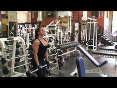 Shoulder Exercise - Barbell Front Raise - Fitness Model Diana Chaloux