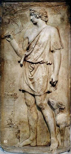 Antinous as Dionysus. 130-138 CE. Roman. marble relief. http://hadrian6.tumblr.com