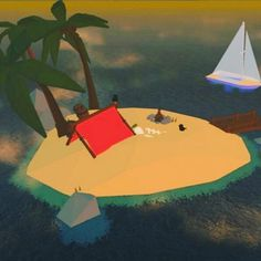 Relax here in VR Regatta #htcvive #sailboat #sailing #paradise #vr #island