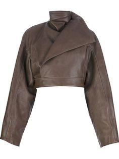 RICK OWENS Cropped Leather Jacket