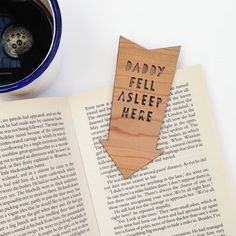 'fell asleep here' bookmark by studio thirty two | notonthehighstreet.com