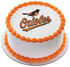 MLB Baltimore Orioles Edible Icing Sheet Cake Decor Topper