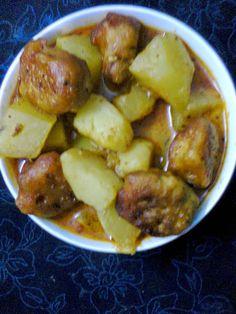Easy Cooking and More: Veg. Recipe  -  Papaya and Besan (Bengal Gram Flou...