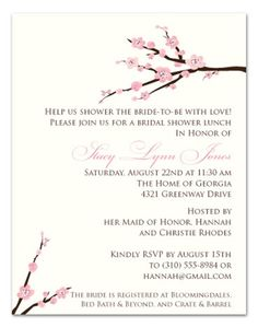 Cherry blossom baby shower invitations paperstyle megans baby cherry blossom baby shower invitations filmwisefo